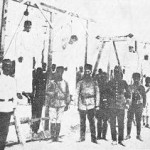 Turkish hangmen and their victims in Aleppo, 1915