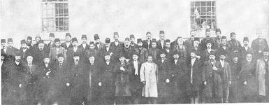 Armenians from Kesaria in front of jail one hour before all were killed.