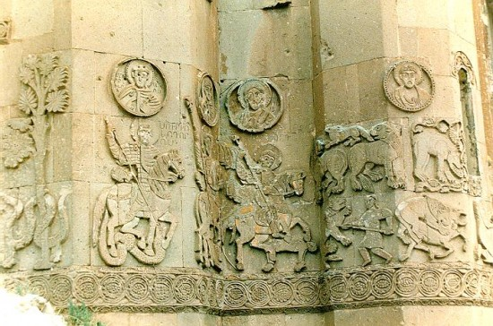 Aghtamar, fragment of the wall of St. Cross church