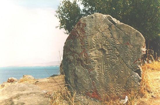 Cross-stone on the Aghtamar island