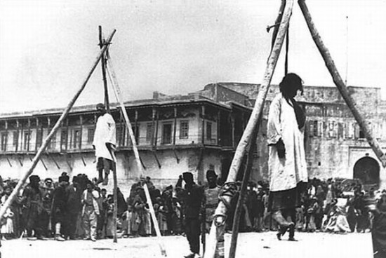Hanged Armenians, Executed at Public Square