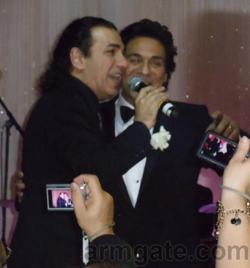 Andy & Korous, singing at Andy & Shani Wedding