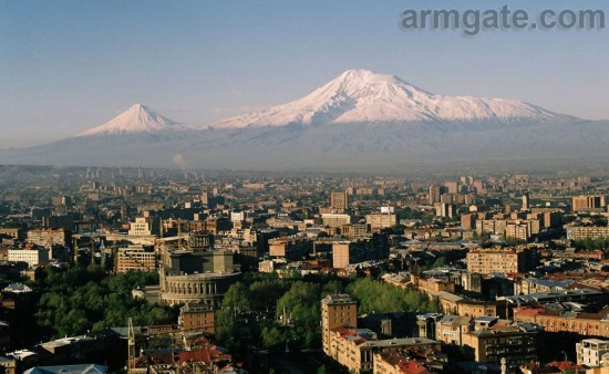 Mt. Ararat Mountain, View from Yerevan